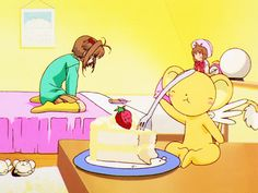 It's just like honey Sakura Kinomoto, Syaoran, Old Anime, Anime Art, Geeks, Sailor Moon Aesthetic, Wolf Spirit Animal, Card Captor, Clear Card