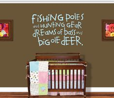 Childrens Room  Wall Decals Nursery Hunting Fishing by Vinylthingz, $30.00
