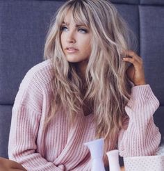 33 Long Layered Hair Style With Bangs THIS!I got this haircut. I think it looks pretty cute with my balayage. long layered hair style with bangs – Long Hair Style Trends Long Fringe Hairstyles, Top Hairstyles, Summer Hairstyles, Long Haircuts With Bangs, Latest Hairstyles, Haircut Medium, Long Bangs Hairstyles Sideswept, Boy Haircuts, Blonde Hairstyles