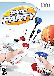 GAME PARTY Wii Darts, Table Hockey, Skeeball, Ping Cup, Trivia Family Game