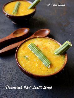 Drumstick Red Lentil Soup - Enjoy some comforting red lentil #soup with drumsticks, coconut and mild spices!