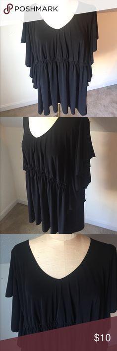 3X black blouse Fashion Bug, 3X black blouse Fashion Bug Tops Blouses
