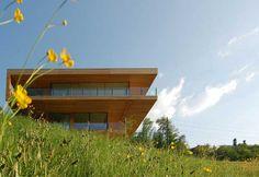 House in Switzerland - 15 wonders of modern architecture and interior, Modern Wood House, Wood House Design, Modern Houses, House 2, Haus Am See, Web Design, Modern Design, Open Space Living, Minimalist House Design