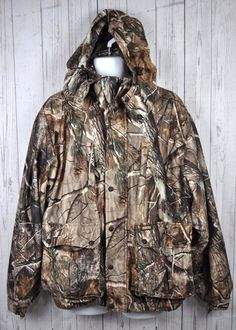 21a3765739770 Remington Hunting Coat Jacket Hooded Insulation Camouflage Realtree Mens Sz  L #Realtree Diamond Quilt,