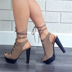 2016 Shoespie Laceup Platform Sandals