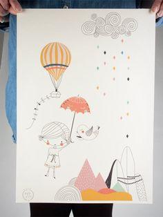 Ballon & Berge Poster / Swantje & Frieda / Human Empire