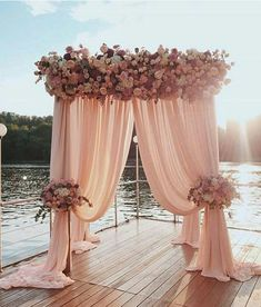 Wedding along the water