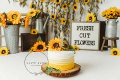Sunflower cake smash by Faith-Lynn photography of Abbotsford,BC, Canada Sunflower Birthday Parties, Sunflower Party, 1st Birthday Party For Girls, Sunflower Cakes, First Birthday Photos, First Birthday Cakes, Baby Birthday, Birthday Ideas, Bee Cakes
