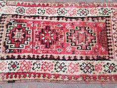 Vintage Oushak Rug Turkish Rug Pale Color Rug by OLDVINSHOP