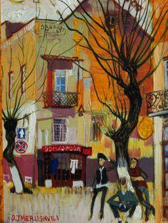 Otar Imerlishvili Painted Houses, Georgie, Paintings I Love, Art For Art Sake, City Streets, House Painting, Painters, Folk, Museum