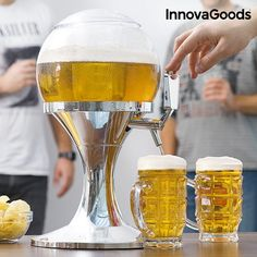 Party Cool Drinks L Draft Beer Dispenser Cooler Machine The best parties can already count on the InnovaGoods Kitchen Foodies cooling beer dispenser! The best parties can already count on theInnovaGoods Kitchen Foodies cooling beer dispenser ! Bar Drinks, Cold Drinks, Alcoholic Drinks, Beverage, Tequila, Vodka, Wine Gadgets, Party Gadgets, Chilled Beer