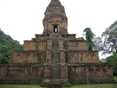 ) One of the temples at Angkor complex, Cambodia