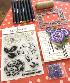 Altenew July 2018 Stamp/Die Release Blog Hop + Giveaway