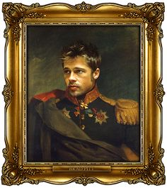 """Russian generals portraits ; ) in Napoleonic era: Bad Pitt by tumbler's """"Replaceface"""" British artist George Dawe • see 329 celeb portraits + add your faces http://replaceface.tumblr.com • buy prints i.e. 8x9 $25 via society6.com"""