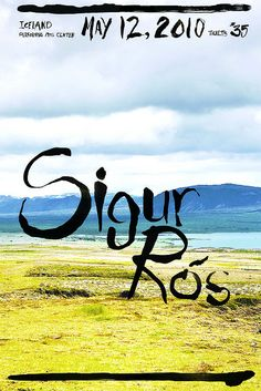 sigur ros music gig posters