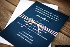 invite.  love that blue with the string