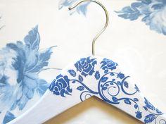Winter wedding Bridal hangers Decorated dress hangers by PracticCo