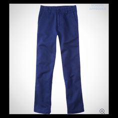 4 pairs Boys school uniform size 14 4 pairs of boys navy blue school uniform pants, flat front. NWT size 14, I purchased the incorrect size online & was too lazy to return them. My lost is your gain, reg. price $29.99. Sorry, Sold as bundle ONLY! P.S. aeropostale Bottoms Casual