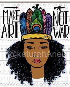 Make Art Not War Poster | Ariel Brands