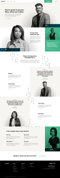 AvenueHQ — Website and digital marketing for your real estate business. Design Web, Layout Design, Fashion Web Design, Web Design Software, Website Design Layout, Blog Layout, Page Design, Website Design Mockup, Landing Page Inspiration