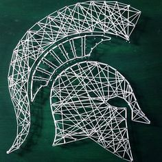 Michigan State Spartans string art