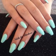 ballerina acrylic nail shape - Google Search