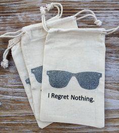 12 silver glitter sunglasses hangover kit bags by EverlongEvents