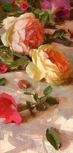 ideas for flowers painting oil rose fine art Paintings I Love, Beautiful Paintings, Flower Paintings, Painting Flowers, Oil Paintings, Still Life Art, Arte Floral, Art Oil, Love Art