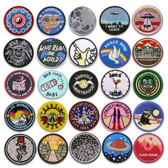 Embroidered Sew On Iron On Patches Badge Fabric Craft Transfer Costume Clothes Funny Patches, Cute Patches, Diy Patches, Pin And Patches, Iron On Patches, Custom Embroidered Patches, Homemade Stickers, Merit Badge, Ideas