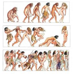 Milo Manara - Storia dell'Umanità History of Humanity Wonderful artwork by Milo Manara, depicting human history. Sex, war to gain sex, more war to gain riches to have more sex. Manado, Comic Character, Character Design, Digital Museum, Anthropology, Erotic Art, Evolution, Images, The Incredibles