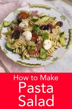 This delicious and easy pasta salad from Preppy Kitchen is bursting with flavor and might just be the perfect dish whether you're attending a picnic, potluck, meal prepping. Best Pasta Salad, Pasta Salad Italian, Best Dinner Recipes, Potluck Recipes, Crock Pot Slow Cooker, Slow Cooker Recipes, Homemade Italian Dressing, Picnic Potluck, Small Pasta