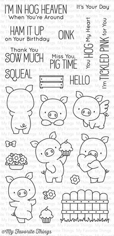 Hog Heaven Stamp Set