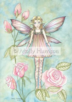 "The Fairy Art and Fantasy Art of Molly Harrison:                         "" Fanciful rose """