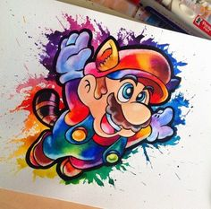 After another week of silence here we finally have the finished Mario piece I was offered to work on some private commission that I've spent the past week with. Now I have some other LGFA related commissions to do by littlegeekyfanart Disney Drawings, Cartoon Drawings, Cartoon Art, Cute Drawings, Desenho New School, Mario Tattoo, Super Mario Art, Video Game Art, Disney Art