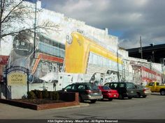 "Mural painting, ""Trains"" - Short North, Columbus, Ohio | KSA Digital Library."