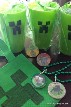 home made minecraft party favors