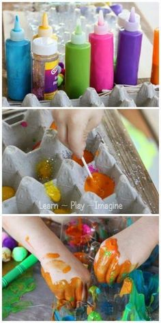 An open ended art project with a recycled egg carton learn play imagine дет