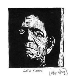 LOU REED - Linocut Print