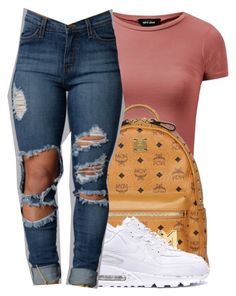 """air max ."" by heroinmother ❤ liked on Polyvore featuring MCM"
