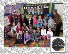 100th Day- Class dressed up as 100-year-olds. Cute.