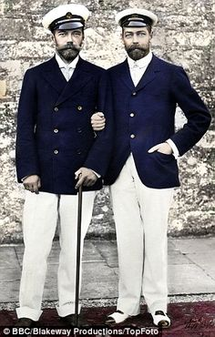 The pair remained friends into adulthood Tsar Nicholas II and George V