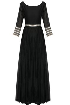 Black dots embroidered anarkali suit available only at Pernia's Pop Up Shop.
