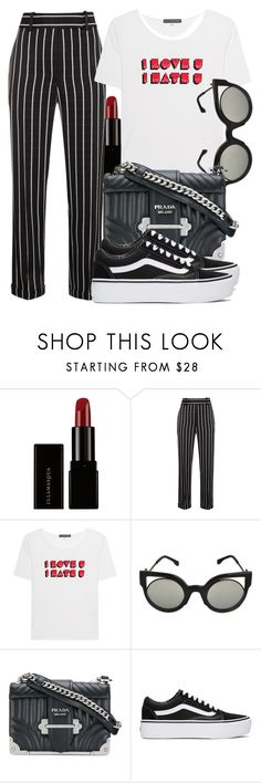 """Untitled #5523"" by beatrizvilar on Polyvore featuring Illamasqua, Haider Ackermann, AlexaChung, Fendi, Prada and Vans"