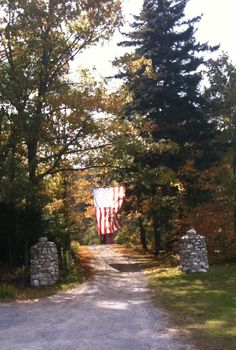 Labour Day Flag in Vermont  Genevieve Howe
