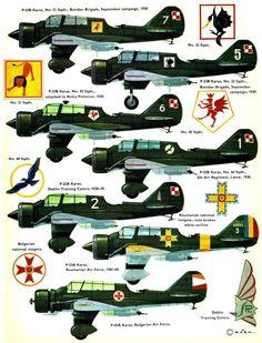 PZL P-23 Karaś Ww2 Aircraft, Military Aircraft, Central And Eastern Europe, Ww2 Planes, Aircraft Design, Parasol, Nose Art, Aviation Art, Military Art