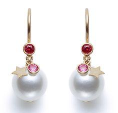 Tasaki by MHT Earrings Eclipse pink sapphires