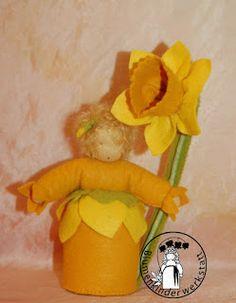 Osterglocke Blumenkinderwerkstatt - Blumenkinder für den Jahreszeitentisch
