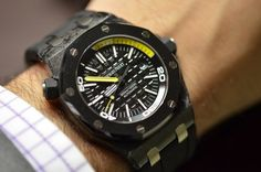 Fancy   First Look: The Audemars Piguet Royal Oak Offshore Diver In Forged Carbon (LivePhotos) - Watches Worth Knowing About - HODINKEE