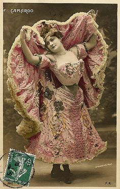 1905 Can Can Dancer Camargo