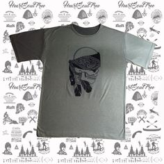 ADVENTURE INDIAN SKULL Camiseta Masculina.